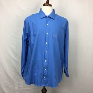 Kenneth Cole Reaction Blue Button Down Dress Shirt
